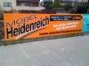 großformatiges Werbeschild aus Aluverbundtafel mit digital gedrucktem Motiv